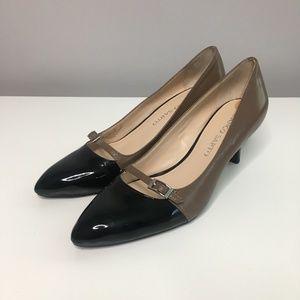 Franco Sarto Rasta Brown and Black Heels
